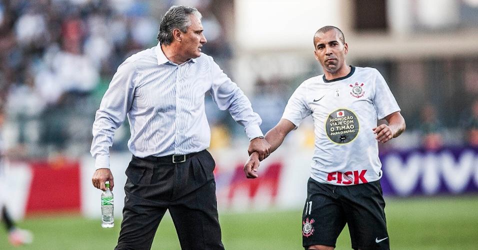 Tite e Émerson Sheik foram expulsos durante a partida entre Corinthians e Atlético-MG