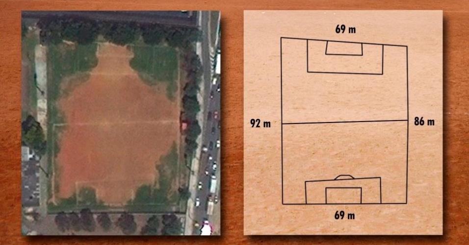 Campo do Benfica do Brasil, na Vila Maria