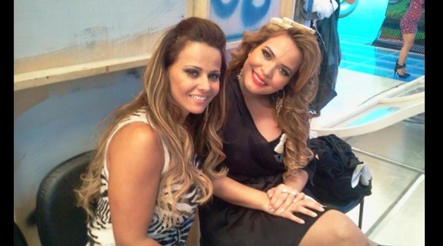 Geisy Arruda tietou Viviane Araújo nos bastidores da gravação de um programa de TV (3/9/12)