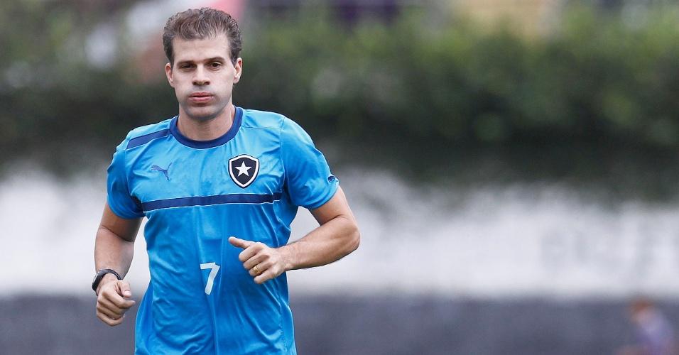Atacante Túlio participa de primeiro treinamento pelo Botafogo no Caio Martins