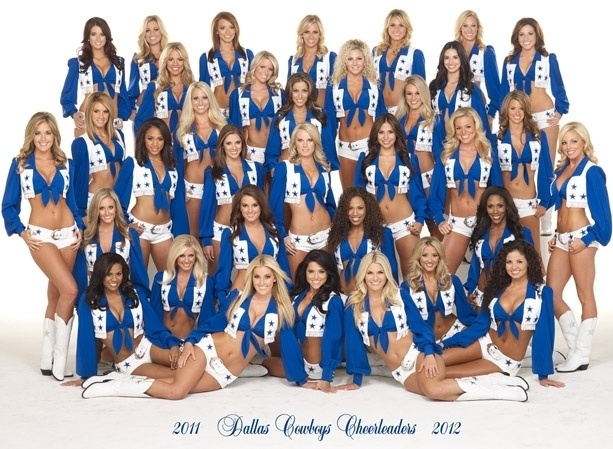 Cheerleaders do Dallas Cowboys na temporada 2011/2012