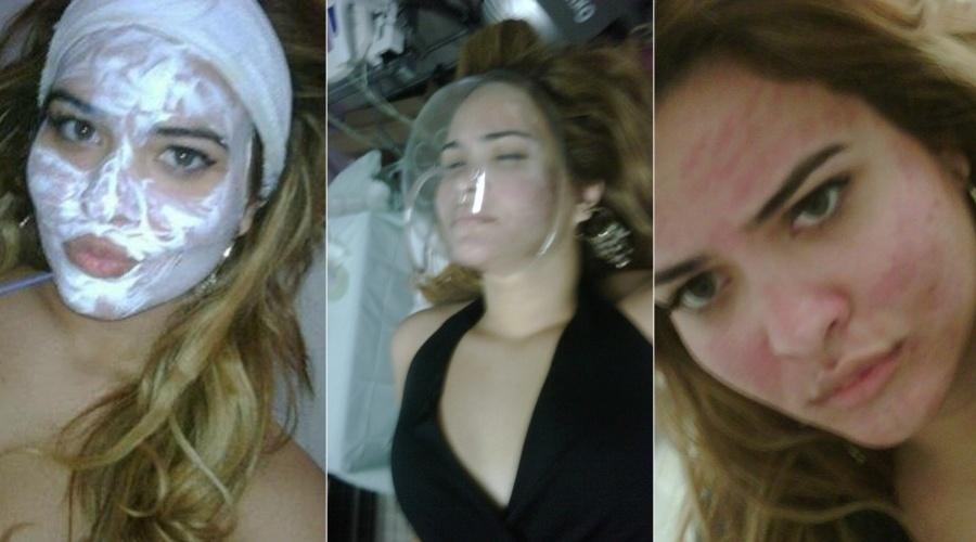 Geisy Arruda divulgou imagem de tratamento estético (4/9/12)