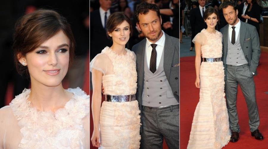 """Keira Knightley e Jude Law prestigiaram a première do filme """"Anna Karenina"""" em Londres (4/9/12)"""