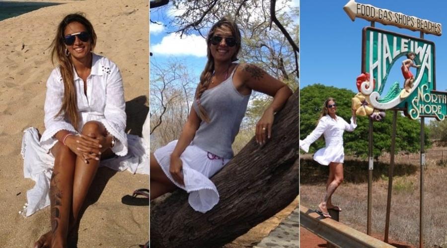 Milena Nogueira curte férias no Havaí (4/9/2012)