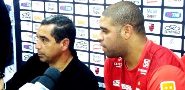 Zinho e Adriano comentam sobre ausência do jogador em treinamento do Flamengo