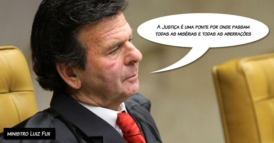 """5.set.2012 - """"A Justiça é uma ponte por onde passam todas as misérias e todas as aberrações"""", afirmou o ministro Luiz Fux durante a leitura de seu voto sobre os réus do Banco Rural"""