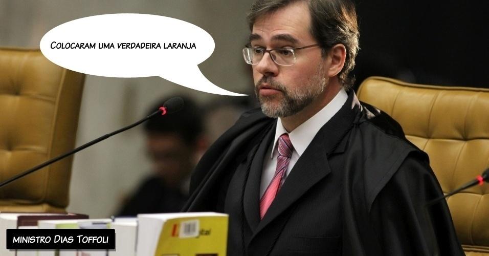 """5.set.2012 - """"Colocaram uma verdadeira laranja"""", disse o ministro Dias Toffoli ao condenar três réus do mensalão e absolver Ayanna Tenório, aqui citada como suposta """"laranja"""" do esquema"""