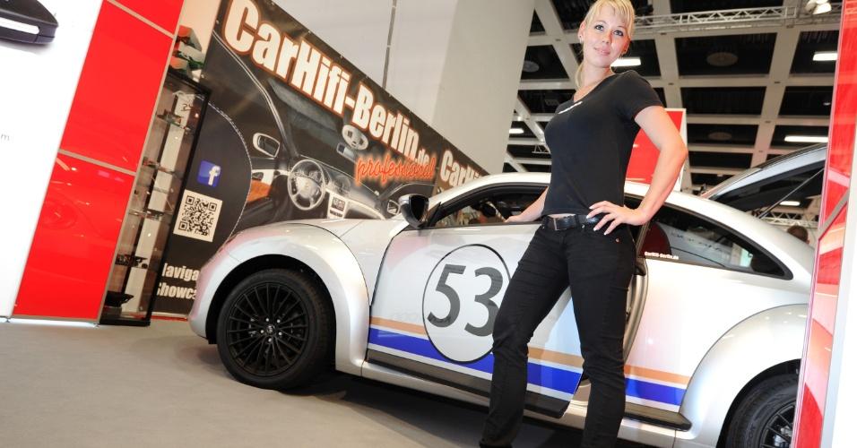 Conhecidas como booth babes, modelos promovem produtos na feira de tecnologia IFA 2012
