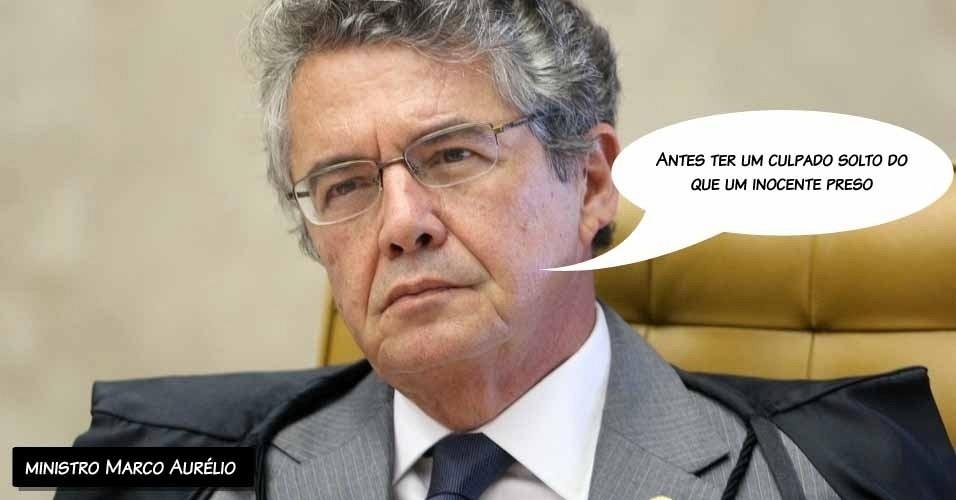 """6.set.2012 - """"Antes ter um culpado solto do que um inocente preso"""", disse o ministro Marco Aurélio sobre os réus do julgamento do mensalão"""