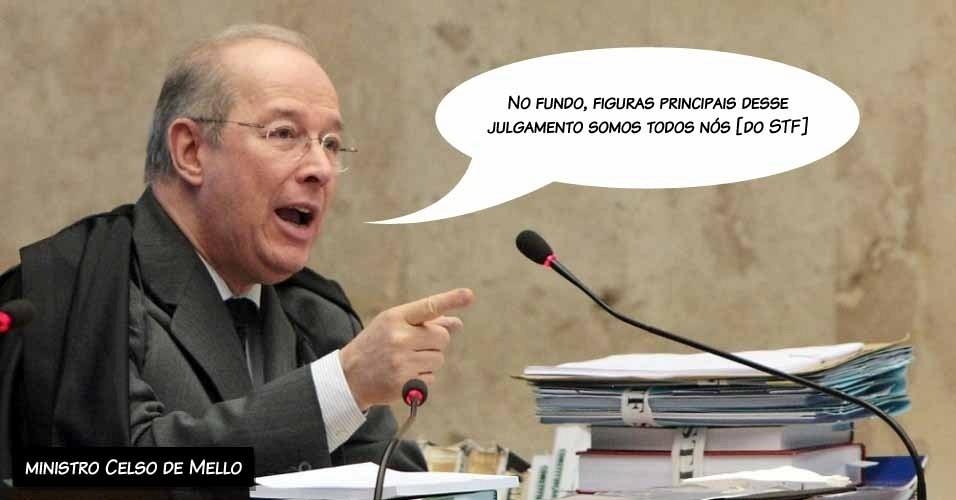 6.set.2012 - ?No fundo, figuras principais desse julgamento somos todos nós [do STF]?, disse o ministro Celso de Mello
