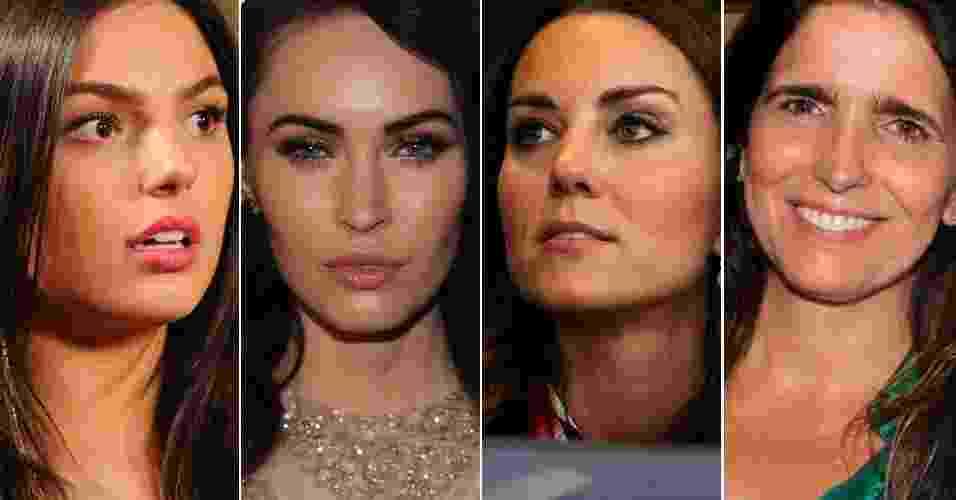 Designers comentam sobrancelhas de famosas - Divulgação/TV Globo, Getty Images e AgNews