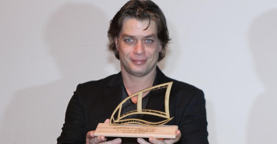 """Fábio Assunção recebe homenagem no prêmio """"Curta Cabo Frio"""", na cidade de Cabo Frio, no Rio de Janeiro (6/9/12)"""