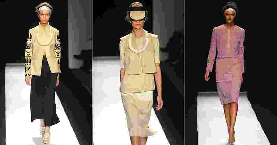 Looks de Chadwick Bell para o Verão 2013 desfilados na semana de moda de Nova York (06/09/2012) - Getty Images