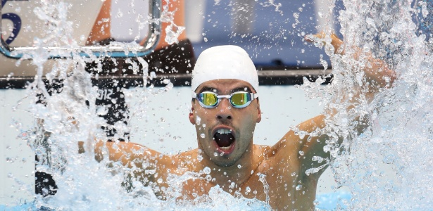 Daniel Dias comemora sua quinta medalha de ouro nos Jogos Paraolímpicos