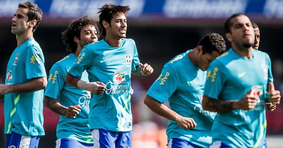 Jogadores brasileiros se preparam para duelo contra a África do Sul