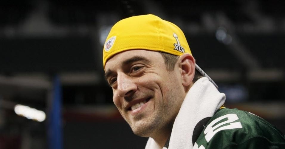 As covinhas de Aaron Rodgers, do Green Bay Packers, também chamam atenção na disputa da liga de futebol americano