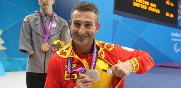 """Nadador paraolímpico espanhol Sebastián """"Chano"""" Rodríguez já conquistou 15 medalhas"""