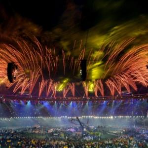 Festa de encerramento dos Jogos Paraolímpicos de Londres, quando Rio recebeu a bandeira olímpica