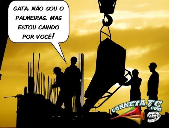 Corneta FC: Má fase do Palmeiras vira até cantada de pedreiro