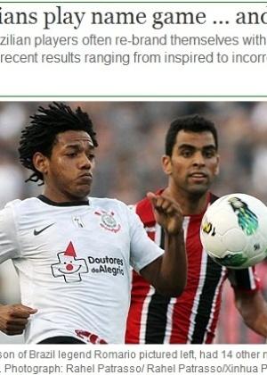 Jornal inglês comete gafe ao chamar Romarinho de filho de Romário