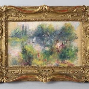 """""""Paysage Bords de Seine"""", pintada por volta de 1879 por Pierre-Auguste Renoir - Reprodução"""