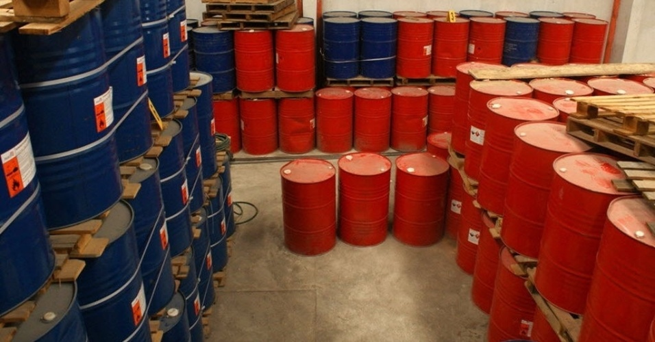11.set.2012 - Polícia da Guatemala apreendeu produtos  de laboratório que fabricava clandestinamente drogas sintéticas
