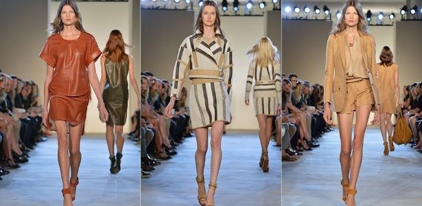 Looks da Belstaff para o Verão 2013 desfilados na semana de moda de Nova York (10/09/2012) - Getty Images