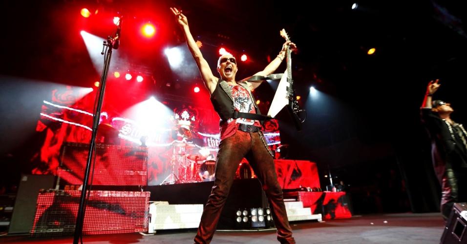 """O Scorpions, que tem 100 milhões de álbuns vendidos em mais de 40 anos de carreira, faz show da turnê """"Final Sting Tour 2012"""" no Brasil, desta vez, em Belo Horizonte (11/9/12)"""