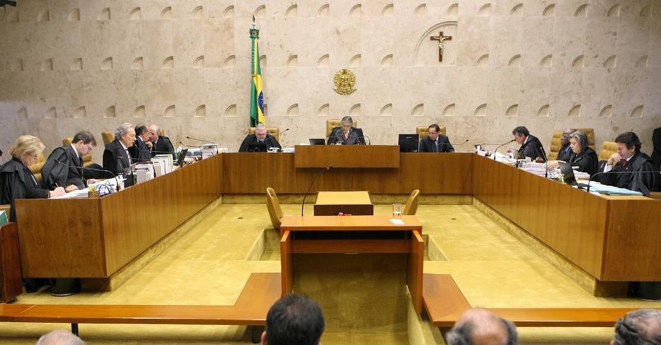 12.set.2012 - Ministros do Supremo Tribunal Federal (STF) realizam mais uma sessão do julgamento do mensalão, em Brasília, nesta quarta-feira