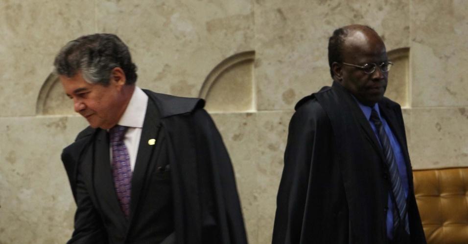 12.set.2012 - Ministros do Supremo Tribunal (STF) realizam mais uma sessão do julgamento do mensalão