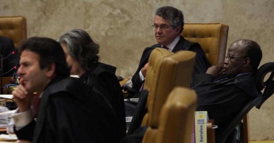 12.set.2012 - Ministros do Supremo Tribunal (STF) realizam mais uma sessão do julgamento do mensalão, em Brasília