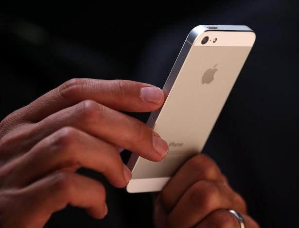 Smartphone iPhone 5, da Apple, é exibido em evento realizado em São Francisco (EUA)  - Justin Sullivan/Getty Images/AFP