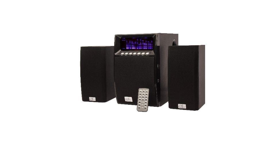 13.set.2012 - A Caixa de Som 2.1 com Subwoofer Multimídia da Integris tem 40 w de potência, porta USB e cartão de memória SD, mas não possui visor no próprio aparelho. O gadget foi desenvolvido para ser acoplado em outros produtos, como um notebook. Preço sugerido: R$ 240