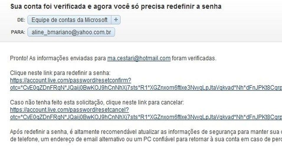 9. A resposta com a liberação chegará ao e-mail alternativo cadastrado no passo 5. Siga os procedimentos pedidos na mensagem