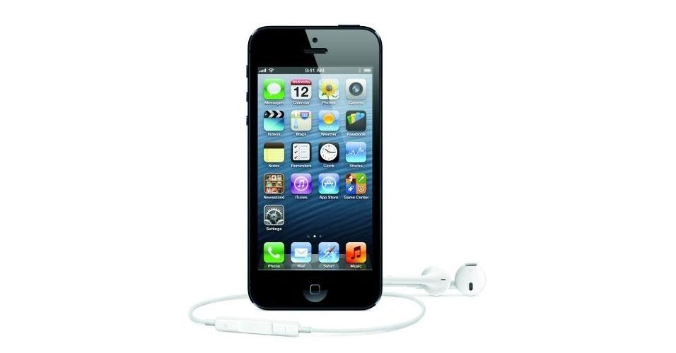 Apple divulgou, nesta quarta-feira (12), o iPhone 5. O smartphone vem equipado com câmera de 8 megapixels, tela de 4 polegadas e compatibilidade com tecnologia 4G