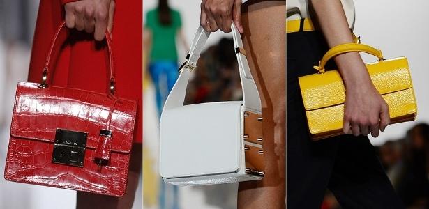 Bolsas de Michael Kors para o Verão 2013 desfilados na semana de moda de Nova York (12/09/2012) - Emmanuel Dunand/AFP