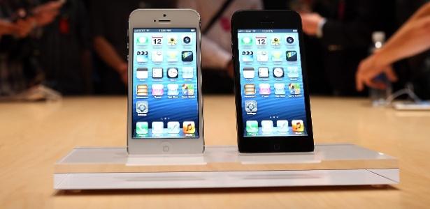 iPhone 5 tem suporte a redes LTE, da quarta geração de internet, mas não no padrão brasileiro - Justin Sullivan/Getty Images/AFP