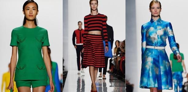 Looks de Michael Kors para o Verão 2013 desfilados na semana de moda de Nova York (12/09/2012) - Emmanuel Dunand/AFP