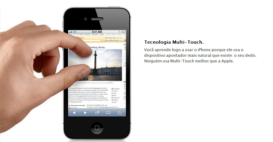 Recurso multitouch do iPhone