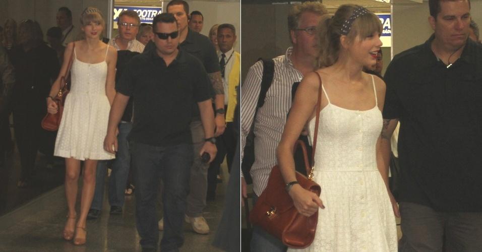 Taylor Swift desembarca no Rio de Janeiro (12/9/12)