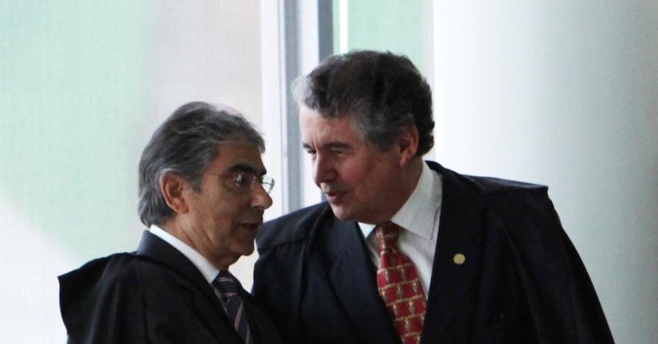 13.set.2012 - Ministros do Supremo Tribunal Federal (STF) se preparam para mais um julgamento do mensalão, nesta quinta-feira, em Brasília