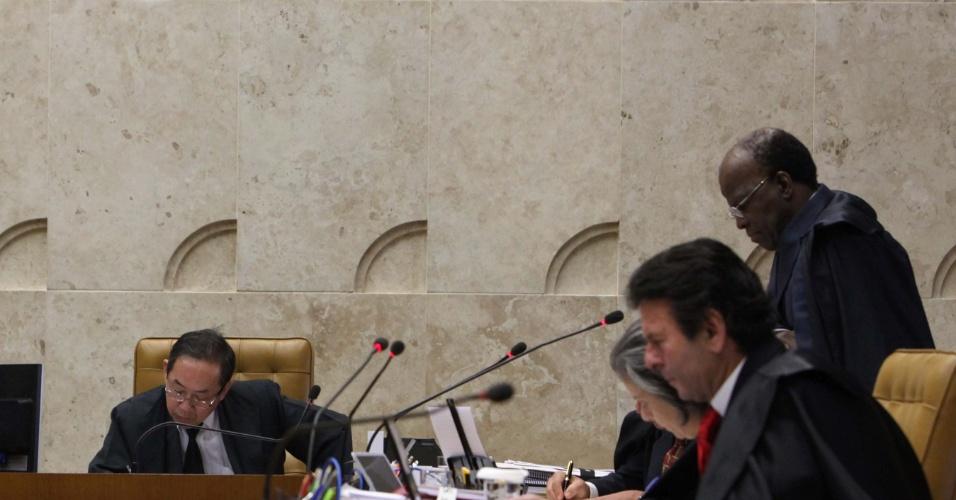 13.set.2012 ? Os ministros  do Supremo Tribunal Federal (STF) acompanham mais mais um julgamento do mensalão, nesta quinta-feira, em Brasília