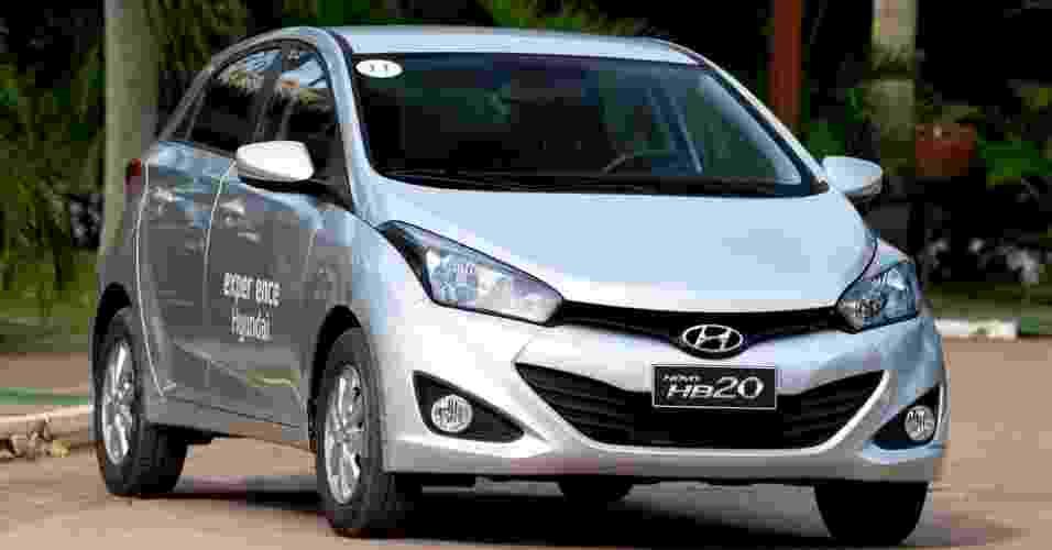 Conheça mais detalhes do Hyundai HB20, que custa entre R$ 31.995 e R$ 47.995 e chega às lojas em outubro - Divulgação