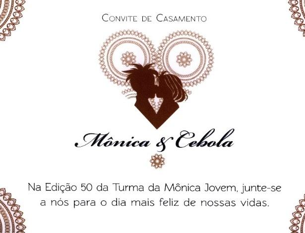 Convite de casamento de Mônica e Cebolinha postado no Facebook - Reprodução/Facebook