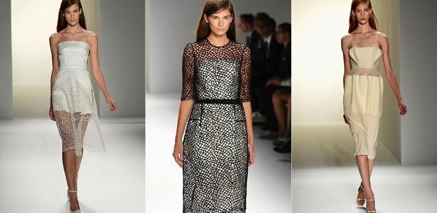 Looks de Calvin Klein para o Verão 2013 desfilados na semana de moda de Nova York (13/09/2012) - Getty Images