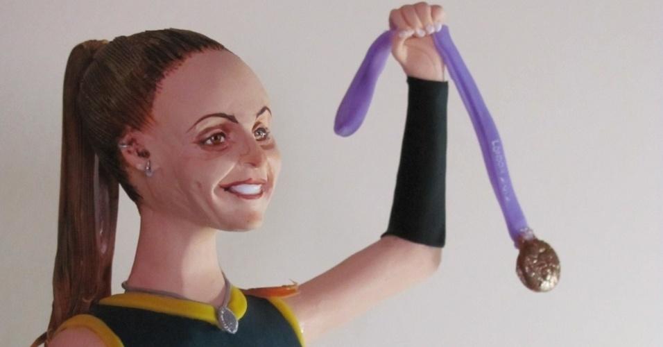 A bicampeã olímpica de vôlei Fabi ganhou uma boneca em sua homenagem