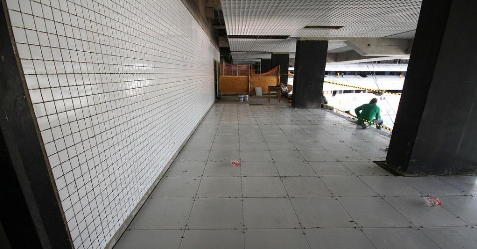 Acabamentos colocados na Arena do Grêmio