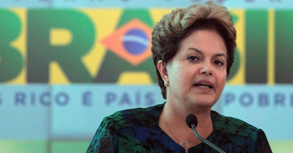 Dilma em discurso na Rio+20