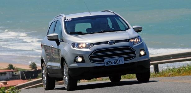 Com três meses e 10 mil unidades de vantagem sobre HR-V e Renegade nas vendas, Ford confia que EcoSport manterá posto de SUV mais vendido do Brasil em 2015 - Murilo Góes/UOL