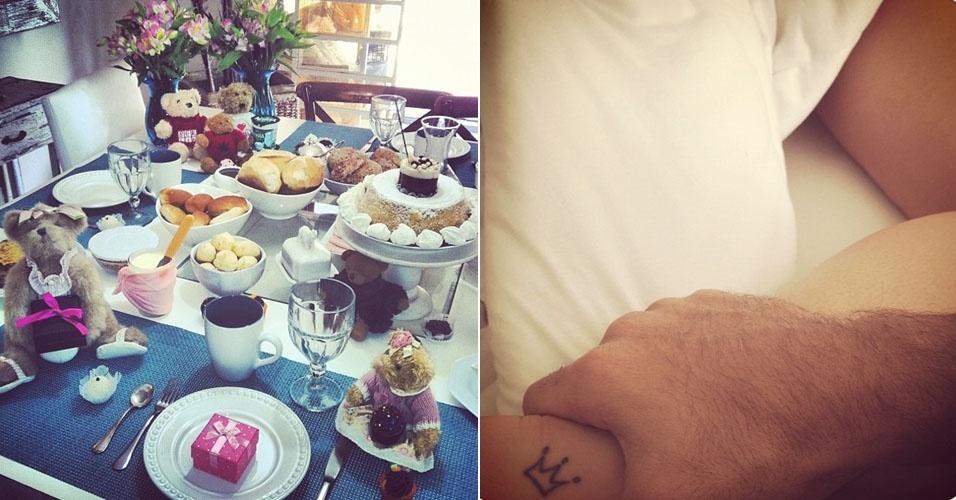 Giovanna Ewbank recebe café da manhã e declaração de amor no seu aniversário (14/9/12)